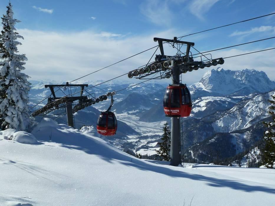 Steinplatte Waidring Skifahren